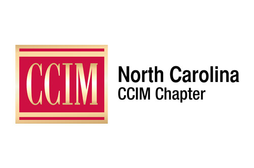 CCIM Logo - Red square with serif type inside with gold gradient and black sans-serif type to right